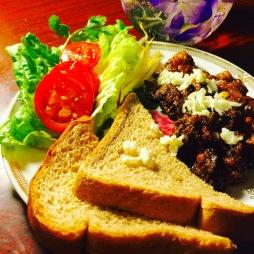 Black-soybean beef sandwich, American